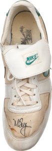 Baseball Collectibles:Others, 1989 Mark McGwire Signed Game Used Shoe....