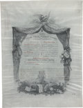 Autographs:Military Figures, West Point - United States Military Academy Diploma, 1880, with accompanying U.S. government documents related to the diplom...