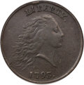 Large Cents, 1793 Chain 1C Periods AU50 NGC....