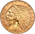 Indian Half Eagles, 1913-S $5 MS64 PCGS....
