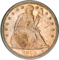 Seated Dollars, 1859-S $1 MS63 PCGS....