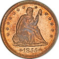 Proof Seated Quarters, 1855 25C Arrows PR65 NGC....