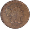 Half Cents, 1795 1/2 C Lettered Edge MS63 Brown PCGS....