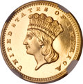 Proof Gold Dollars, 1861 G$1 PR66 Cameo NGC....