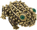 Estate Jewelry:Brooches - Pins, Emerald, Enamel, Gold Pendant-Brooch, David Webb. ...
