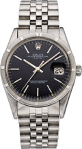 Timepieces:Wristwatch, Rolex Ref. 15000 Men's Steel Oyster Perpetual Date, circa 1981. ...