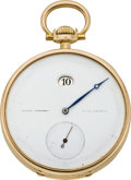 Timepieces:Pocket (pre 1900) , Patek Philippe Ultra Rare and Important Digital Jump Hour GoldPocket Watch, circa 1892. ...