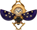 Timepieces:Other , Swiss Enamel & Gold Miniature Ladybug Form Watch, circa 1915. ...