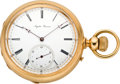 Timepieces:Pocket (pre 1900) , Augustin Perrenoud High Grade Gold Pocket Watch, circa 1880's. ...