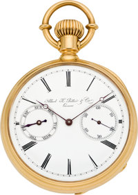 Albert H. Potter & Co. Geneva Rare and Important Gold Watch with Day Indicator No. 683, circa 1890