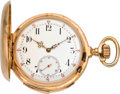 Timepieces:Pocket (pre 1900) , Swiss Gold Minute Repeater, circa 1890's. ...