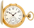 Timepieces:Pocket (pre 1900), Tiffany & Co. Gold Split Second Chronograph, circa 1888. ...