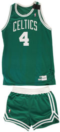 Basketball Collectibles:Uniforms, 1989 Jim Paxson Boston Celtics Game Worn Jersey and Shorts. ...
