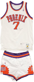 Basketball Collectibles:Uniforms, 1988-89 Kevin Johnson Phoenix Suns Game Used Jersey and Shorts. ...