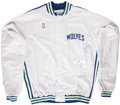 Basketball Collectibles:Uniforms, 1992-93 Christian Laettner Minnesota Timberwolves Warm Up Top andPants. ...