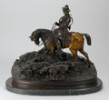 Bronze:European, After PIERRE-JULES MÊNE (French, 1810-1879). Valet de Chasse Louis XV et sa Harde. 26 x 31 x 16 inches (66.0 x 78.7 x 40...
