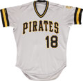 Baseball Collectibles:Uniforms, 1987 Andy Van Slyke Pittsburgh Pirates Game Worn Jersey. ...
