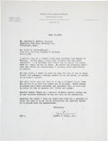 Golf Collectibles:Autographs, 1945 Bobby Jones Signed Typed Letter. ...