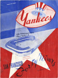 Football Collectibles:Publications, 1948 New York Yankees Signed Football Program....
