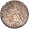 Seated Half Dollars, 1842 50C Medium Date, Large Letters MS64 PCGS. CAC....