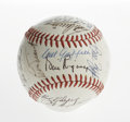 Autographs:Baseballs, 1970 Minnesota Twins Team Signed Baseball. A whopping 31 signaturesfrom the 1970 Minnesota Twins appear her on the surface...