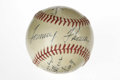 Autographs:Baseballs, 1941 Baltimore Orioles International League Team Signed Baseball.Amazing example that we see here comes from the Baltimore...