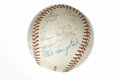 Autographs:Baseballs, 1950s Minor Leaguers Team Signed Baseball. Official AmericanAssociation baseball houses the signatures of 24 members of a ...