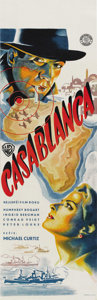 "Movie Posters:Drama, Casablanca (Warner Brothers, 1942). Post-War Czech Poster (11.5"" X36.25""). ..."