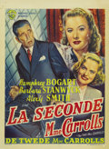 "Movie Posters:Film Noir, The Two Mrs. Carrolls (Warner Brothers, 1947). Belgian (14"" X19.25""). ..."