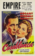 "Movie Posters:Drama, Casablanca (Warner Brothers, R-1960s). Belgian (11"" X 17.25"")...."