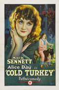 "Movie Posters:Comedy, Cold Turkey (Pathe', 1925). One Sheet (27"" X 41""). ..."