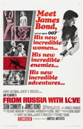 """Movie Posters:James Bond, From Russia with Love (United Artists, 1964). One Sheet (27"""" X 41"""") Style A. ..."""