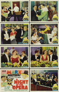 """Movie Posters:Comedy, A Night at the Opera (MGM, R-1948). Lobby Card Set of 8 (11"""" X14""""). ... (Total: 8 Items)"""