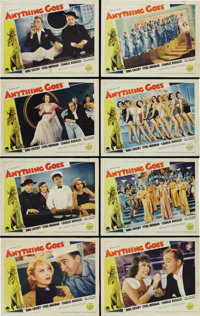 """Anything Goes (Paramount, 1936). Lobby Card Set of 8 (11"""" X 14""""). ... (Total: 8 Items)"""