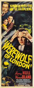 "Movie Posters:Horror, Werewolf of London (Universal, 1935). Insert (14"" X 36""). ..."