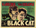 "Movie Posters:Horror, The Black Cat (Universal, 1934). Half Sheet (22"" X 28""). ..."