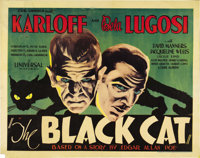 "The Black Cat (Universal, 1934). Half Sheet (22"" X 28"")"