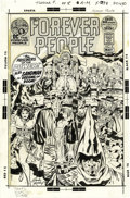 Original Comic Art:Covers, Jack Kirby and Mike Royer - Forever People #8 Cover Original Art(DC, 1972). ...