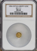 California Fractional Gold: , 1856 25C Liberty Octagonal 25 Cents, BG-111, R.3, MS62 NGC. NGCCensus: (10/17). PCGS Population (80/116). (#10380)...