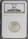 Seated Quarters: , 1891 25C MS61 NGC. NGC Census: (29/363). PCGS Population (25/393).Mintage: 3,920,600. Numismedia Wsl. Price for NGC/PCGS c...