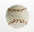 Autographs:Baseballs, 1963 Cleveland Indians Team Signed Baseball. A solid representationfrom the Tribe, with thirty ink signatures averaging a ...