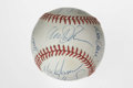 Autographs:Baseballs, 1988 New York Mets Team Signed Baseball. Much the same team thatearned World Championship glory two years earlier. ONL (Gi...