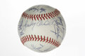 Autographs:Baseballs, 1978 Cincinnati Reds Team Signed Baseball. Led by skipper SparkyAnderson, the 1978 Cincinnati Reds had yet another strong ...