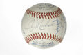 Autographs:Baseballs, 1976 Chicago Cubs Team Signed Baseball. Hall of Famer Bruce Sutterhighlights the collection of 25 signatures that appear on...