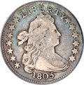 Early Dimes, 1805 10C 5 Berries Fine 15 PCGS. CAC....