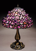 Lapidary Art:Carvings, TIFFANY-STYLE AMETHYST LAMP SHADE. ...