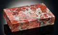 Lapidary Art:Boxes, BRECIATED RED JASPER BOX. ...