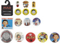 Memorabilia:MAD, Mad-Related Pinback Button and Pin Group (undated).... (Total: 16Items)