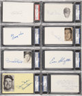 Autographs:Index Cards, Baseball Signed Index Card Collection (29) PSA/DNA CertifiedAuthentic. ...