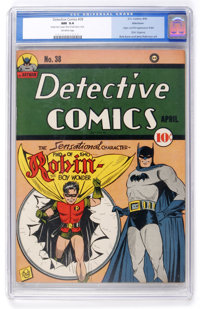 Detective Comics #38 Allentown pedigree (DC, 1940) CGC NM 9.4 Off-white pages